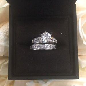 Jewelry - 2.36 cttw CZ Bridal Set w/Princess-Cut CZ, Size 5